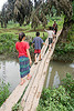 kids on bridge (laos)