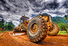 road grader - caterpillar CAT 14G (140G), at work, cat 14g, cat grader, caterpillar 140g, caterpillar 14g road grader, caterpillar road grader, groundwork, heavy equipment, hydraulic, machinery, motor grader, mud tires, road construction, roadworks, wheels, working, yellow