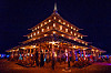 the temple at night - burning man 2016, burning man, glowing, night, temple