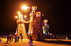 the lighthouse - burning man 2016, art installation, black rock lighthouse, burning man, fire, flames, light house, night
