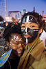 black face paint, black woman, couple, face painting, facepaint, festival, knowledge, love fest, lovevolution, makeup, man
