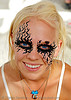 2006 - burning-man, amelia, art, blue eyes, burning man, makeup, moose, woman