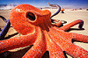 giant octopus - burning man 2016, art installation, burning man, ceramic, giant octopus, head, mosaic, octavius, sculpture