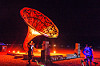 la victrola - giant gramophone - burning man 2016, art installation, burning man, giant gramophone, la victrola, night