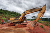 caterpillar CAT E200B excavator - road construction (laos)