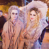 gostly costume - couple - halloween in the castro (san francisco), costume, couple, ghosts, girls, halloween, lesbian women, night