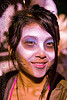 TJ from AK - girl with airbrush stencil face paint - dia de los muertos - halloween (san francisco)