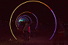 sonic runway - burning man 2016, art installation, burning man, glowing, led light, light rings, night, vanishing point