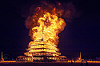 the temple ablaze - burning man 2016, burn, burning man, fire, flame, night, temple