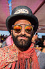 persian prince with clock hat - burning man 2016, beard, burning man, clock, hat, mirror sunglasses, persian prince