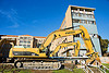caterpillar CAT 330D excavators, abandoned building, abandoned hospital, building demolition, cat 330d, caterpillar 330d, caterpillar excavator, ferma corporation, heavy equipment, hydraulic, machinery, presidio hospital, presidio landmark apartments