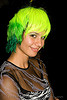 green hair, ghostship 2008, green hair, halloween, neon green, neon yellow, people, rave party, space cowboys, wig, woman