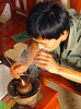 man smoking tobacco pipe - vietnam, man, smoke, smoker, smoking, tobacco pipe