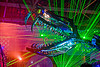 giant snake skeleton animated sculpture - opulent temple massive rave party (treasure island, san francisco) - serpent mother