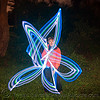 light painting - me, drawing a star with LED lights, flow lights, flow toys, full moon party, glowing, golden gate park, led lights, led staff, light drawing, light graffiti, light painting, long exposure, man, night, tristan savatier