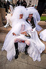 three brides - brides of march (san francisco), brides of march, festival, male underwear, wedding dress, white