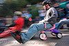 "BYOBW - ""bring your own big wheel"" race - toy tricycles (san francisco), bicycle helmet, big wheel, drift trikes, moving fast, potrero hill, race, speed, speeding, toy tricycle, toy trike, trike-drifting"