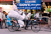 cycle rickshaw with freight load - delhi (india)