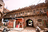 old haveli (mansion) converted into cheap lodging - delhi (india)