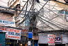 electrical wiring in street - delhi (india)