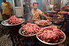 meat shop - goat meat - butcher - delhi (india)