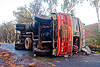overturned truck - truck accident (india)