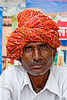 man with red turban (india)