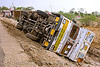 overturned truck (india)