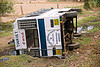 overturned tourist bus (india)