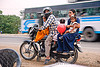 A family of five on a motorbike (india)