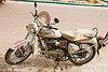 "india police traffic patrol - royal enfield motorcycle - ""bullet"" 350cc"