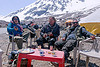 chai pause before baralacha pass - manali to leh road (india)