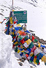 baralacha pass - manali to leh road (india), baralacha pass, baralachala, buddhism, ladakh, mountain pass, mountains, prayer flags, sign, snow, tibetan