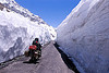 snow walls - himalayas - manali to leh road (india)