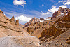 limestone canyon near pang - manali to leh road (india)