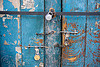 locked store doors - leh (india)
