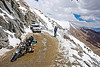 muddy and snowy road - khardungla pass - ladakh (india)