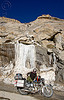 ice waterfall - road to chang-la pass - ladakh (india)