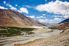 river - nubra valley - ladakh (india)