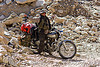 ben and his royal enfield motorcycle - road to pangong lake - ladakh (india)