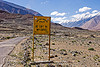 be soft on my curves - sign - road to chang-la pass - ladakh (india)