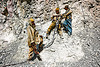 workers using air drill - road construction - ladakh (india)