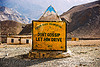 misogyny - don't gossip, let him drive - misogynist road sign in ladakh (india)