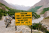 caution you are under enemy observation - sign - leh to srinagar road - kashmir