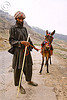 man and his pony - drass valley - leh to srinagar road - kashmir