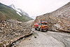 zojila pass - truck - old snow - drass valley - leh to srinagar road - kashmir
