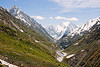 valley on the way to to the cave - amarnath yatra (pilgrimage) - kashmir