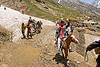 ponies and pilgrims on the trail - amarnath yatra (pilgrimage) - kashmir