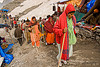 pilgrims with walking sticks, heading for the cave - amarnath yatra (pilgrimage) - kashmir