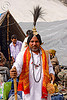 sadhu (hindu holy man) with ceremonial head dress - amarnath yatra (pilgrimage) - kashmir